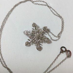 Jewelry - 🌸SNOWFLAKE NECKLACE W DIAMOND SPARKLE 🌸